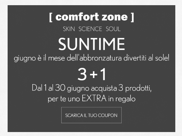Coupon Comfort Zone sun soul
